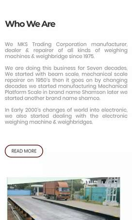 Service Engineer for Weighing machine company