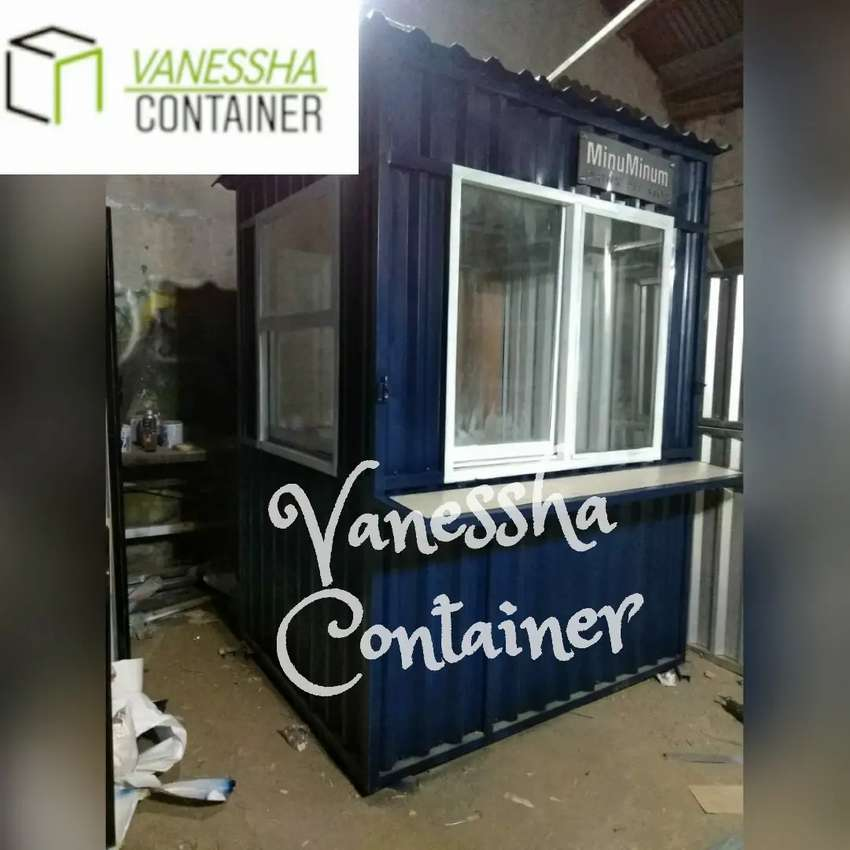 BOOTH SEMI CONTAINER / CONTAINER KEDAI KOPI / CONTAINER USAHA BOBA 0