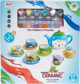 Creative Arts Painted Ceramic Tea Set Brand New Sealed