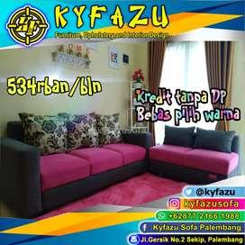 Sofa minimalis type L, Sopa L putus bisa kredit tanpa DP tanpa survey