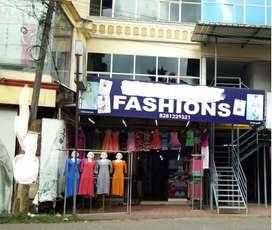 Textile shop for sale(furnished)