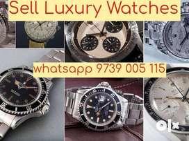 Sell Rolex Daytona , Submariner, GMT, Omega Luxury Watch Buyers India.