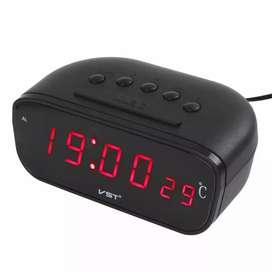 Hot New Arrival Black Large Screen Led Car Electronic Clock Wi