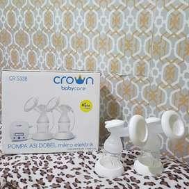 Pompa ASI Double Elektrik Crown Babycare