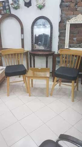 New brand chairs with table