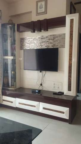Spacious Huge TV Unit with LED lights