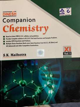 Dinesh companion chemistry class 11 volume 1 and 2