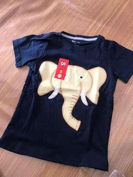 Baju Kaos anak gambar gajah