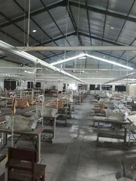 Gudang Bagus ex pabrik garmen. Luas 2083 m2. Lb. 1000 m2. Klaten