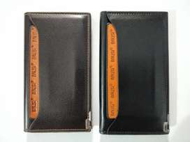 Leather long wallet with card holder