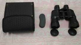 Black binoculars with case( दूरबीन)