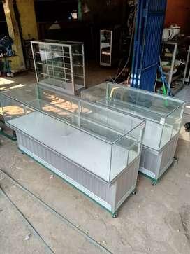 Jual etalase konter hp / pulsa 1,5 meter full alumunium bukan melamin