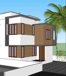 Brand new semi furnished 3BHK House for sale in kazhakuttom