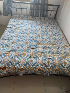 Metal Bed with mattress rarely used