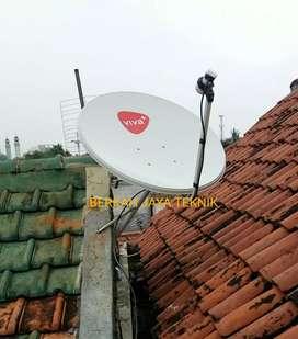 """""""Paket alat + Pasang"""", Parabola mini Freesat Bebas iuran, BERGARANSI"""