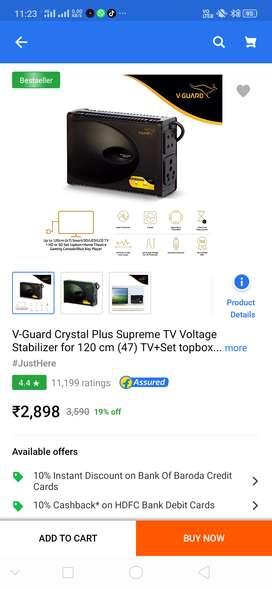 V-Guard Crystal Plus Supreme TV Voltage Stabilizer
