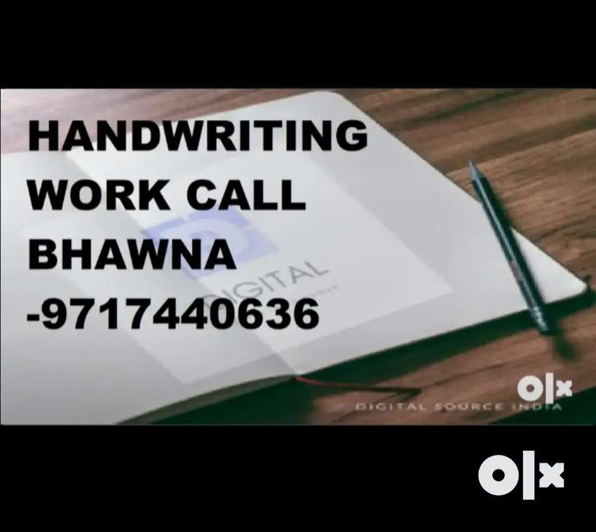 Work from home available for handwriting work