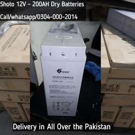 Shoto 12V - 200AH Batteries Brand New