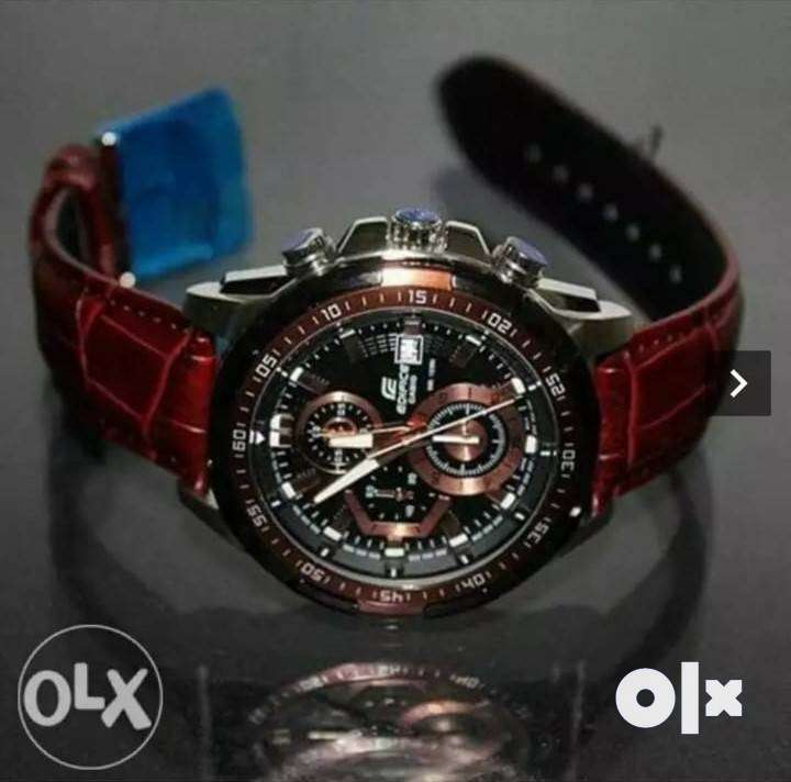 Edifice LEATHER elegant watches CASH ON DELIVERY price negotiable.. 0