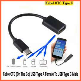 Kabel OTG (On The Go) USB Type A Female To USB Type C Male