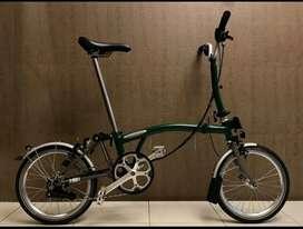 Sepeda Lipat Brompton M6L-X Titanium