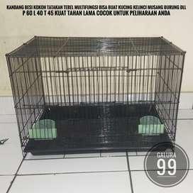 Kandang size 60 serbaguna buat kelinci kucing musang dll