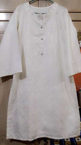 White embriodered kurti for sale
