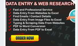 Data entry projects audio transmission web research