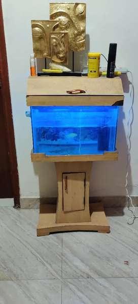 Fish aquarium with stand