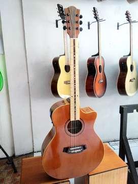 Gitar akustik elektrik coleclark fretboard mapel