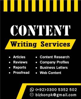 Web Content Writing, Articles, Proofreading, Virtual Office Assistance