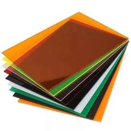 Galery mika lembaran Solid Colour/Warna 8mm uk.triplek, Tangerang