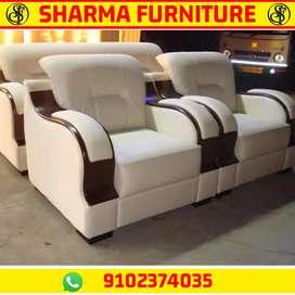Full Cream colour leatherette 53 no Sofa set at SHARMA FURNITURE