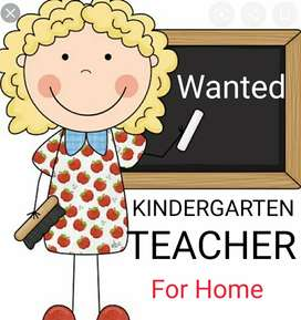 Wanted a kindergarten teacher for home