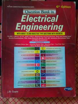 6th edition Question Bank Electrical Engineering by J B Gupta