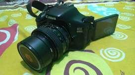 Canon eos dslr 600D + Lensa Canon FD 55mm f1.2