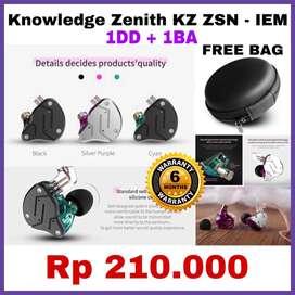 Knowledge Zenith ZSN Original Earphone Garansi Toko 6 Bulan READY STOK