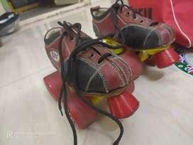 Skating shoes with skating bag