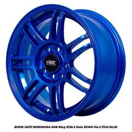 Pelek Impor R15X65 H8X100-114,3 ET42 BLUE