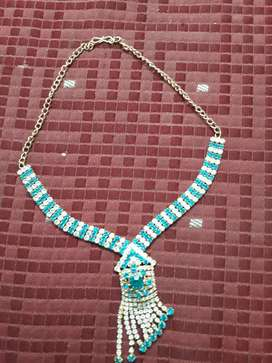 White and blue stone designer necklace for immediate sale
