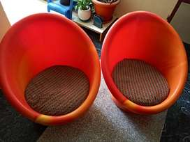2 Tub chairs with Cushions for SALE