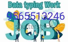 Home based Part time Online job Data Typing work