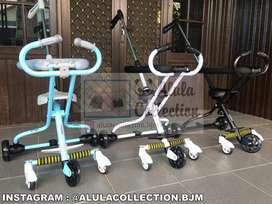 Stroller roda 5 ada rem merk junior