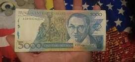 uang kuno brazil 5000 asli langkah