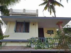 Upstairs 2 BHK house for rent small family Rs. 7500 at Maradu