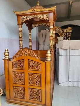 Mimbar masjid agung attin kayu jati