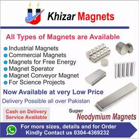 All shape & size of Neodymium &ferrite Magnets available in Rawalpindi