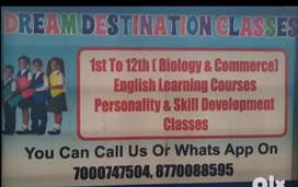 Home tution from class 1st to 12th and spoken english classes
