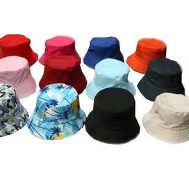 Topi bucket atau bucket hat polos