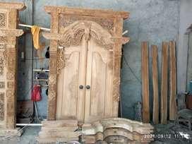 Pintu kusen gebyok kayu jati cekan